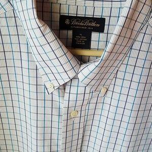 XL Brooks Brothers Shirt Non Iron 100% Cotton Blo